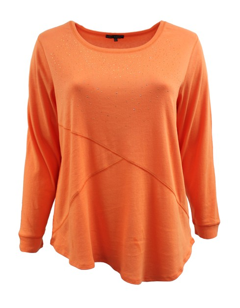 Orange Long Sleeve Sweater Plus Size - orangeshine.com