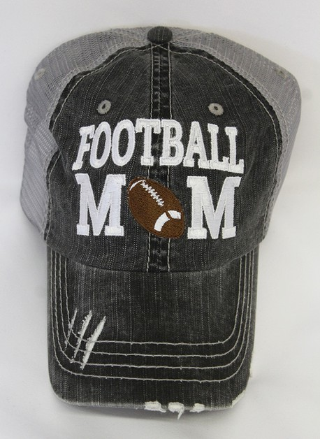 Football Mom Cap  - orangeshine.com