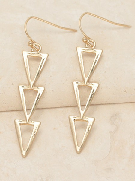 Triangle Drop Earrings - orangeshine.com