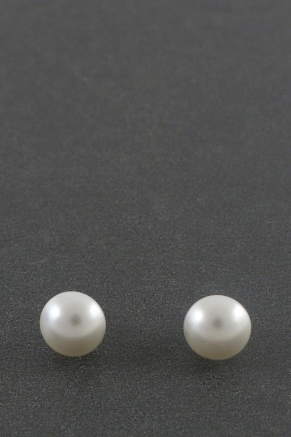 PEARL POST EARRINGS - orangeshine.com