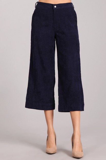 Corduroy High Waisted Pants - orangeshine.com