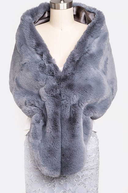 Soft Faux Fur Shawl Scarf - orangeshine.com