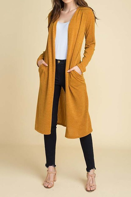 SWEATER DUSTER WITH SIDE POCKETS  - orangeshine.com