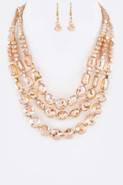 Crystal Iconic Necklace Set - orangeshine.com