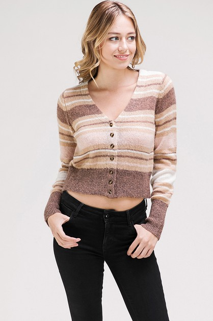 MULTI STRIPED LONG SLEEVES PULLOVER  - orangeshine.com