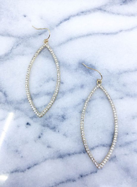Pave stone earrings  - orangeshine.com