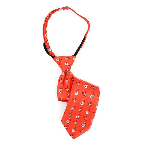 Boy Christmas Santa Claus Zipper Tie - orangeshine.com