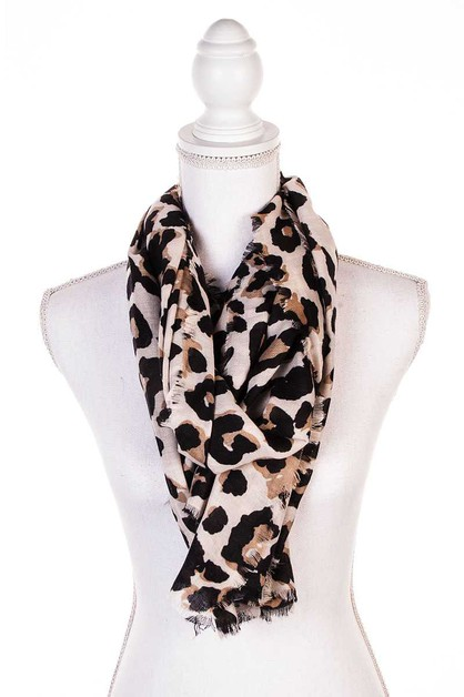 HOT TRENDY LEOPARD SCARF  - orangeshine.com