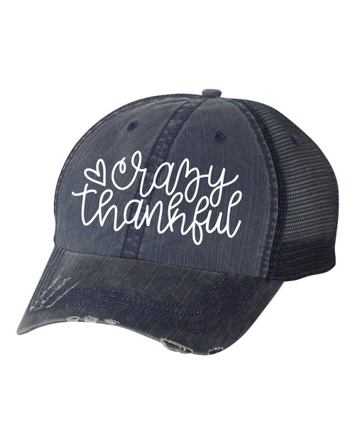 Crazy Thankful Trucker Hat - orangeshine.com