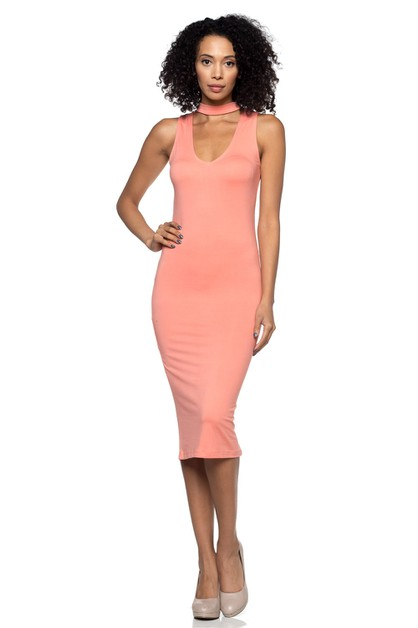 Cutout Midi Dress - orangeshine.com