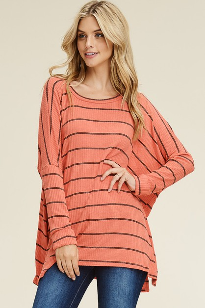MIXED KNIT OVERSIZE SCOOPED SWEATER  - orangeshine.com