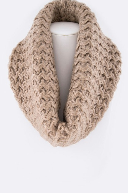 Zigzag Knit Winter Neck Warmer - orangeshine.com