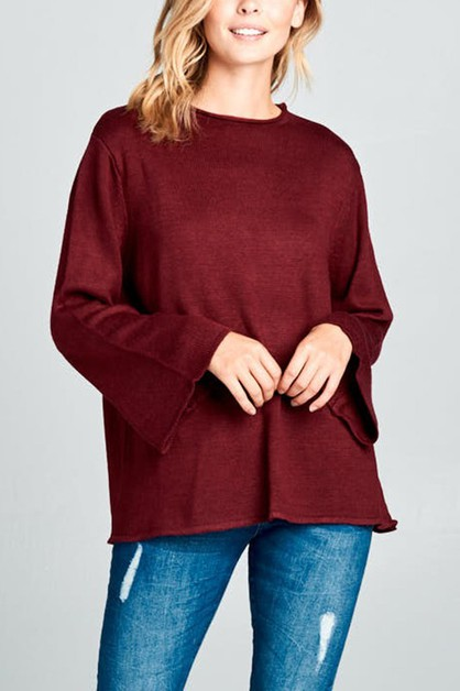 V-neck Sweater  - orangeshine.com