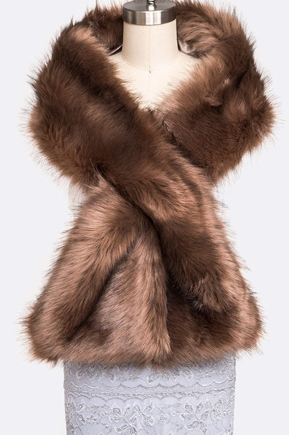 Super Soft Faux Fur Shawl Scarf - orangeshine.com