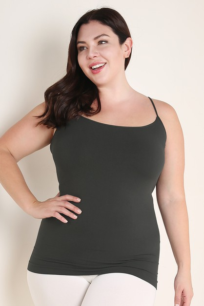 Plus Size Long Camisole - orangeshine.com