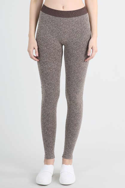 Stone Textured Long Leggings - orangeshine.com
