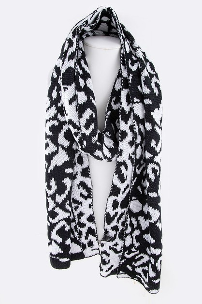 Neon Animal Print Iconic Scarf - orangeshine.com