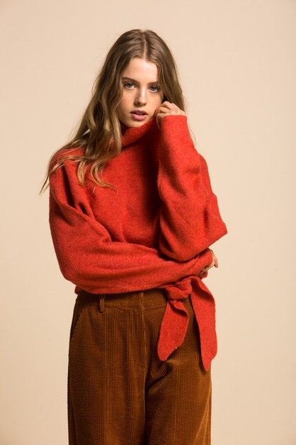 Oriana Tied Sweater - orangeshine.com