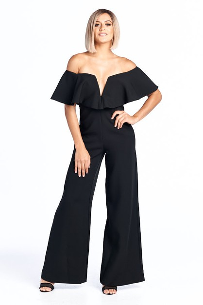 Off Shoulder Jumpsuit - orangeshine.com