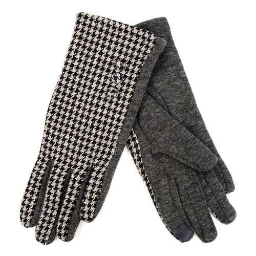 Houndstooth Touch Screen Lady Gloves - orangeshine.com