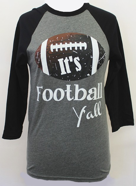 Its Football Yall Raglan - orangeshine.com