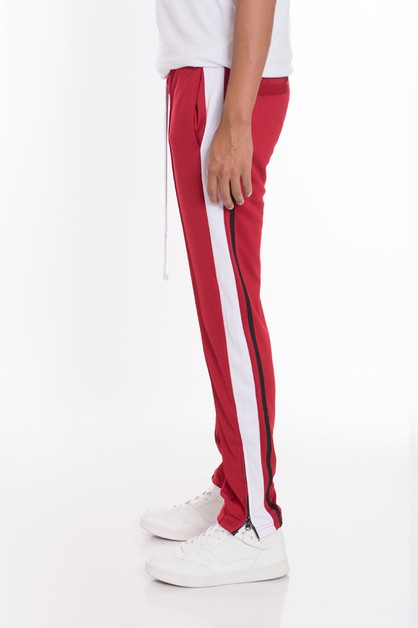 STRIPES TRICOT TAPERED PANTS - orangeshine.com