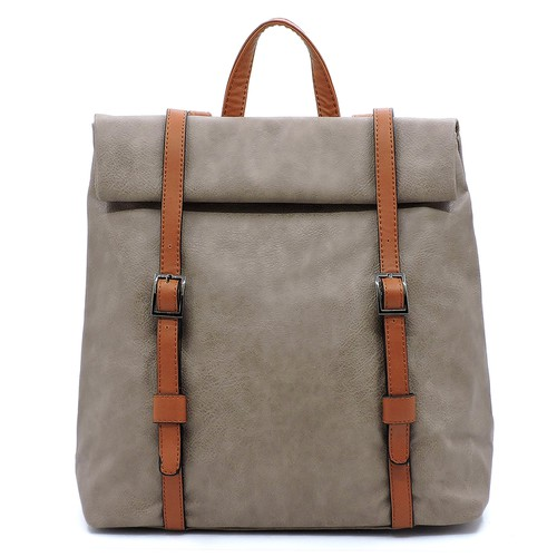 Fashion 2-toned Backpack - orangeshine.com