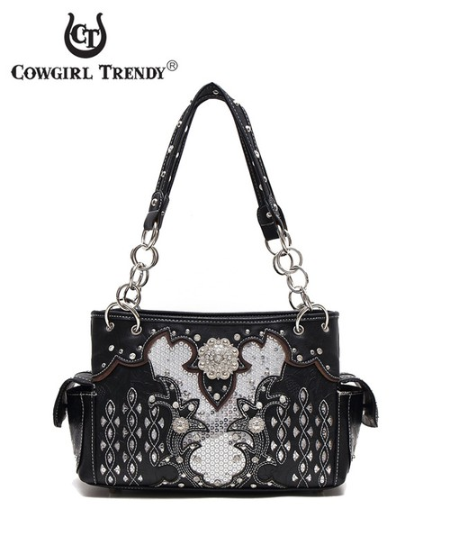 Studs and Concho Satchel Bag - orangeshine.com