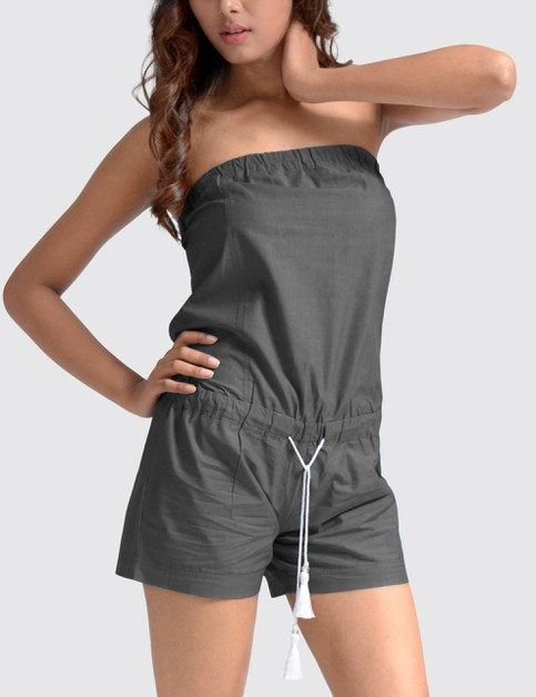Womens Denim Romper - orangeshine.com