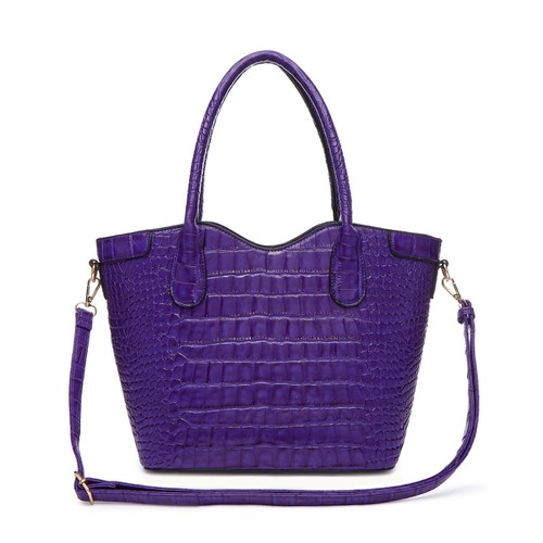 Croco Top Handle Tote Bag - orangeshine.com