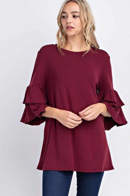 Double Layered Sleeve Top - orangeshine.com