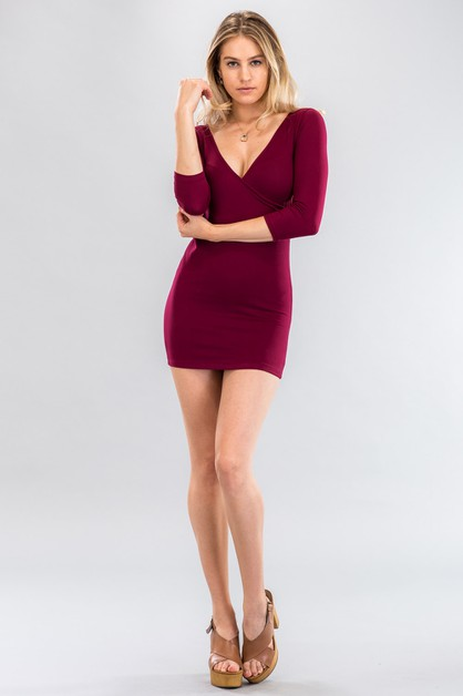 Surplice Dress - orangeshine.com