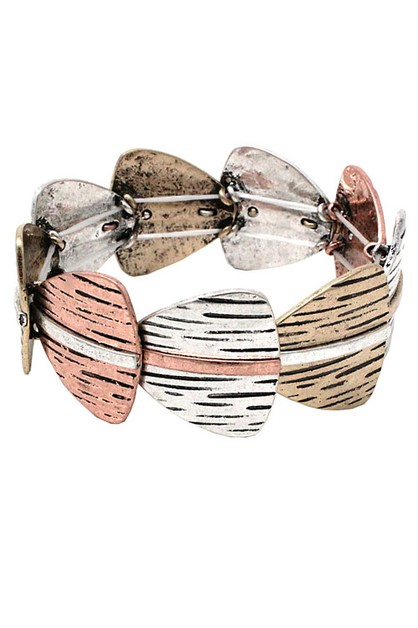 Fashion Mix Metal Stretch Bracelet - orangeshine.com
