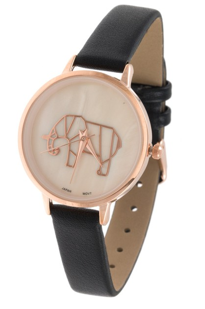 ABSTRACT ELEPHANT ORIGAMI WATCH  - orangeshine.com
