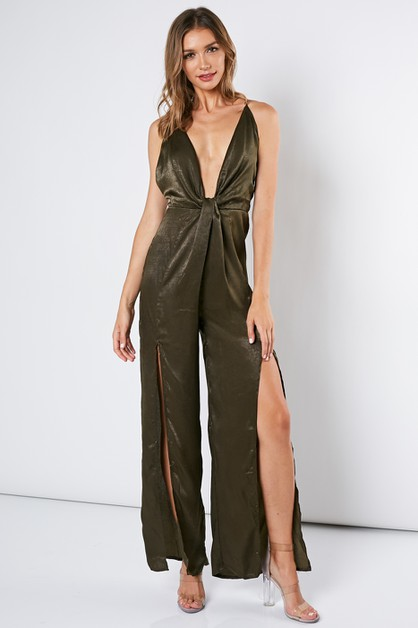 SATIN JUMPSUIT - orangeshine.com