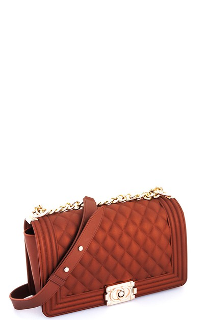 Trendy Princess PVC Crossbody Bag - orangeshine.com