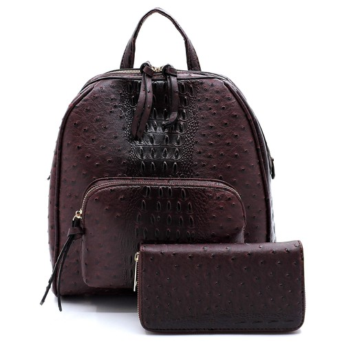 Ostrich Croc 2-in-1 Backpack - orangeshine.com