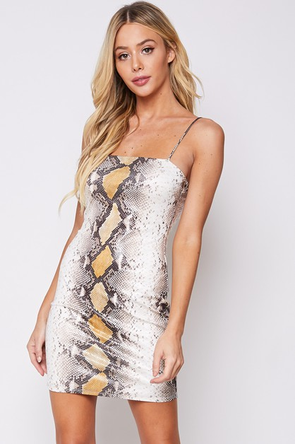 SNAKE DRESS - orangeshine.com
