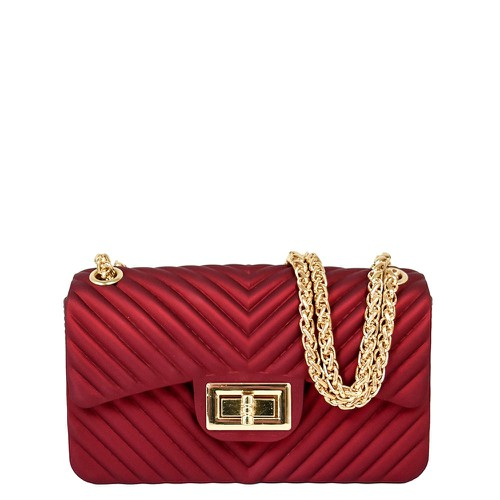 Chevron Embossed Jelly Bag - orangeshine.com