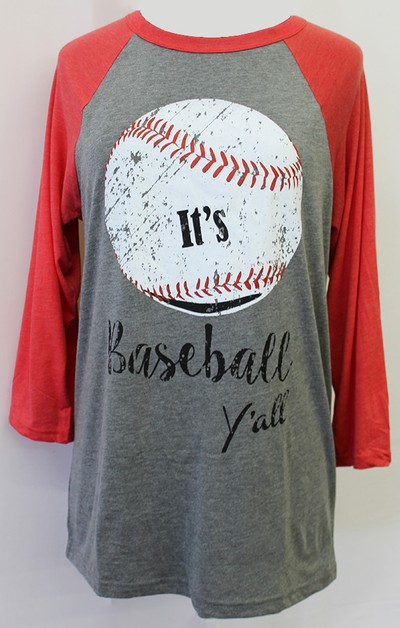 Its Baseball Yall Raglan - orangeshine.com