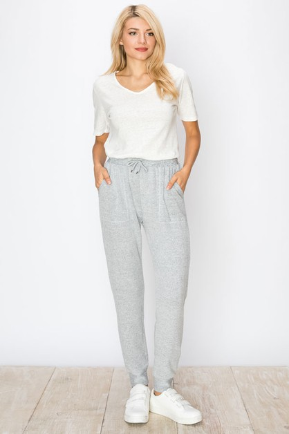 HACCI GREY SWEATER KNIT JOGGER  - orangeshine.com