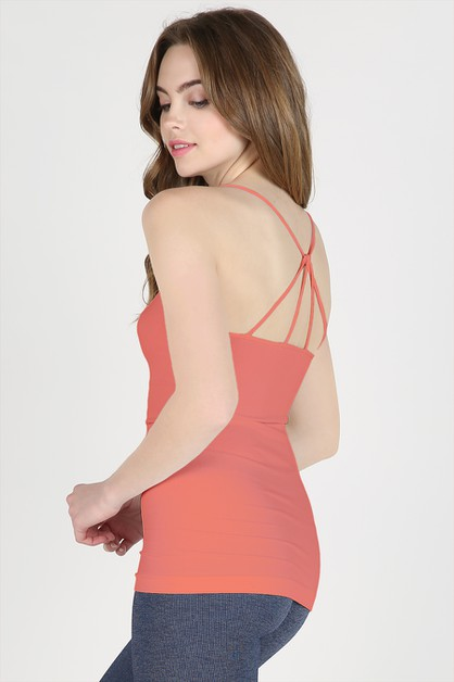 Strappy Back Detail Camisole - orangeshine.com