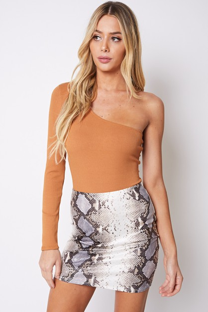 ONE SHOULDER BODYSUIT - orangeshine.com