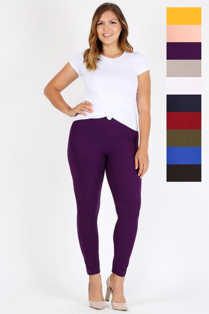 Plus size High Waist Brushed legging - orangeshine.com