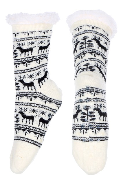 Reindeer Anti-skid Winter Socks - orangeshine.com