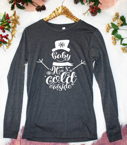 Baby Its Cold Outside LS - orangeshine.com