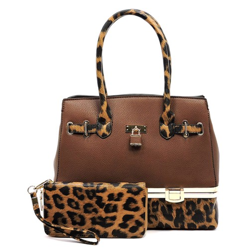 Leopard Colorblock Padlock 2-in-1 - orangeshine.com