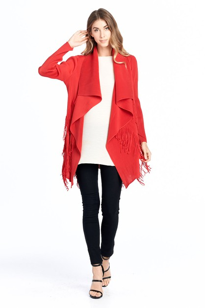 Pleated Chipo String Cardigan  - orangeshine.com