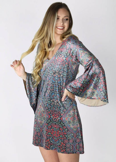 ARABIAN NIGHTS VELVET DRESS  - orangeshine.com