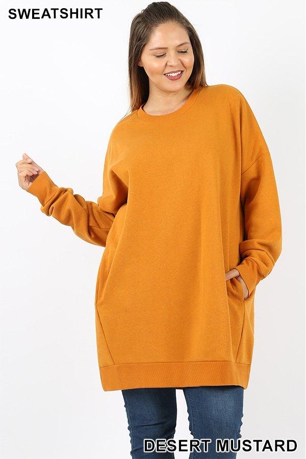 OVERSIZED ROUND NECK SWEATSHIRTS - orangeshine.com